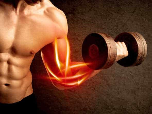 fit body builder with joint pain