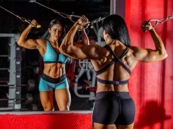woman body builder